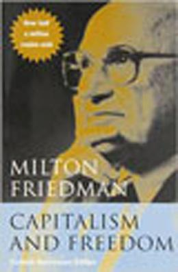 Book cover, Capitalism and Freedom by Milton Friedman