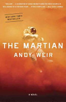 Book cover, The Martian by Andy Weir