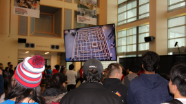 Crowds watch ECE students compete at Robotics Day