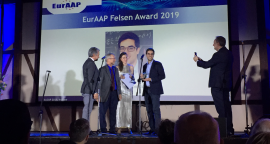 Francesco Monticone receives Felsen Award at the 2019 European Conference on Antennas and Propagation (EuCAP), on April 3 in Krakow, Poland