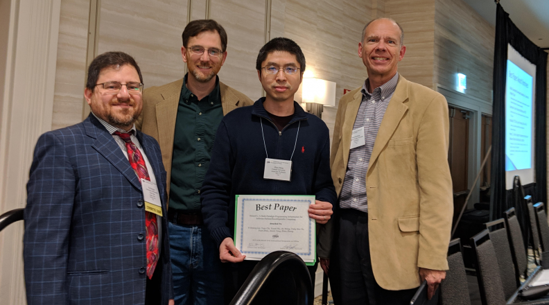 Zhiru Zhang and other attendees of the ACM/SIGDA International Symposium on Field-Programmable Gate Arrays
